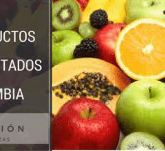 Productos importados por Colombia